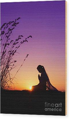 Silence Of Prayer Wood Print by Tim Gainey