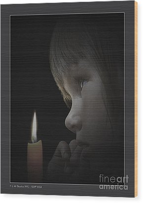 Silent Child Wood Print
