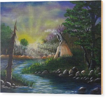Silent Dawn Wood Print by Valorie Cross