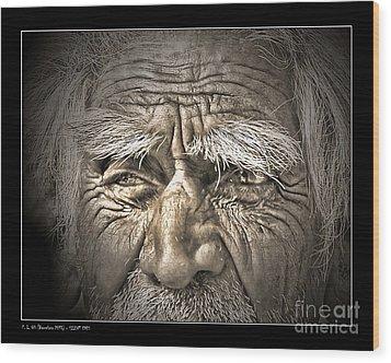 Silent Eyes Wood Print