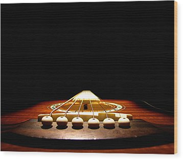 Wood Print featuring the photograph Silent Guitar by Greg Simmons