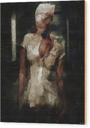 Silent Hill Nurse Wood Print