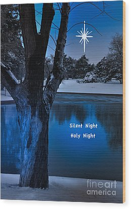 Silent Night Wood Print by Betty LaRue