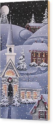 Silent Night Wood Print by Catherine Holman