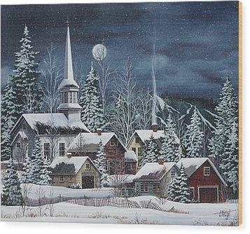 Silent Night Wood Print by Debbi Wetzel