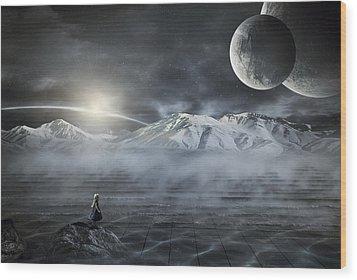 Silent Rise Wood Print by Svetlana Sewell