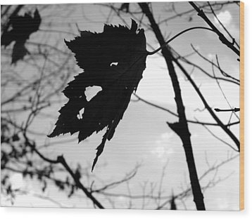 Silhouette Wood Print by Allison Tilberg