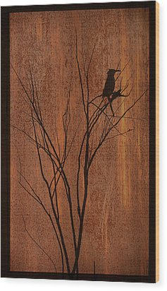 Wood Print featuring the photograph Silhouette by Barbara Manis