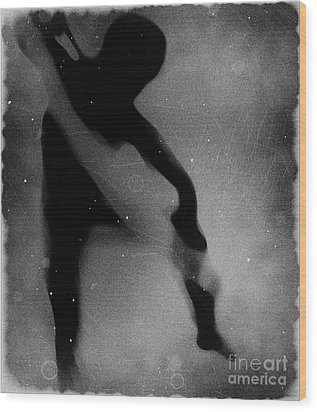 Silhouette Of An Oddity Wood Print by Jessica Shelton