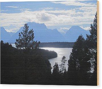 Silhouette Peaks Wood Print by Mike Podhorzer
