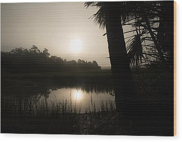 Wood Print featuring the photograph Silhouette  Sunrise by Margaret Palmer