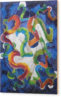 Silk 2 By 2 Wood Print by Sandra Fox