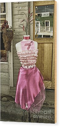 Silk Dress Wood Print