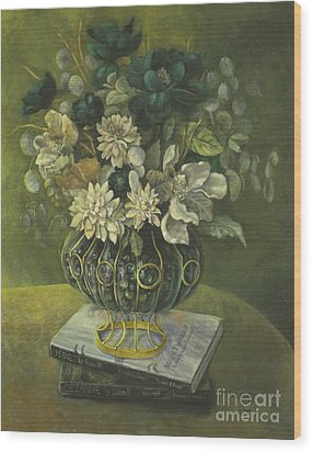 Silk Floral Arrangement Wood Print