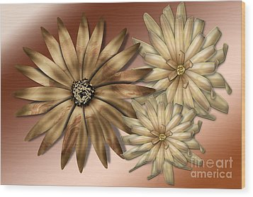 Silk Flowers Wood Print by Tina M Wenger