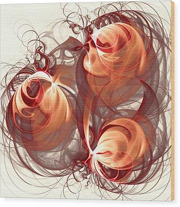 Silk Labyrinth Wood Print by Anastasiya Malakhova