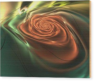 Silk Rose Wood Print