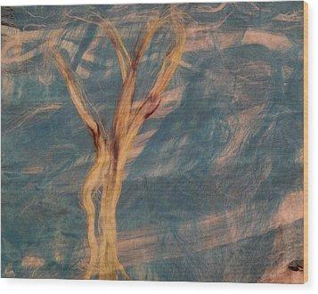 Silk Trees Wood Print by Aliceann Carlton