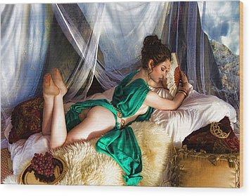 Silken Beauty Wood Print by Waywardimages Waywardimages