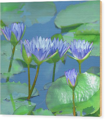 Wood Print featuring the photograph Silken Lilies by Holly Kempe