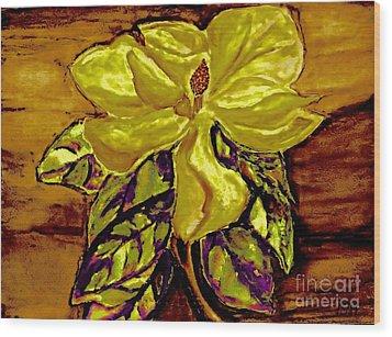 Silky Magnolia Wood Print by Marsha Heiken