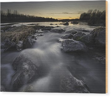 Silky River Wood Print by Davorin Mance
