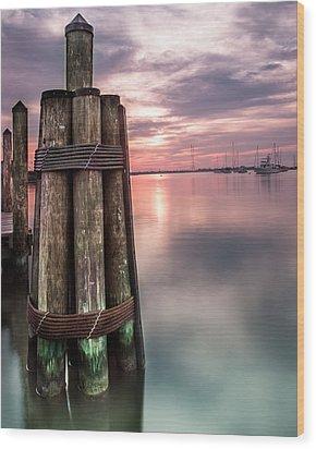 Silky Sunrise Wood Print by Jennifer Casey