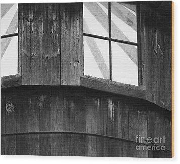 Silo Wood Print by Jim Rossol