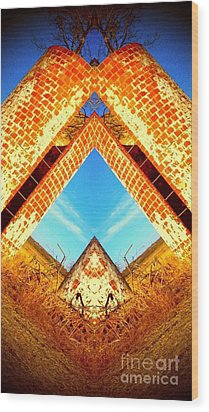 Wood Print featuring the photograph Silo Pyramid by Karen Newell