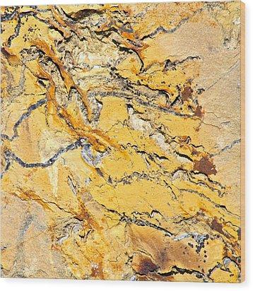 Siltstone Abstract Wood Print by Karon Melillo DeVega