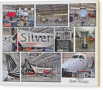 Silver Airways Large Composite Wood Print