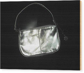 Silver Bag With Rose Locket Wood Print by Robert Cunningham