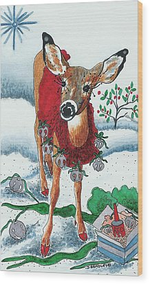 Silver Bells Wood Print by Joy Bradley