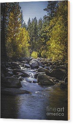 Silver Creek Wood Print by Mitch Shindelbower