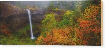 Silver Falls Pano Wood Print