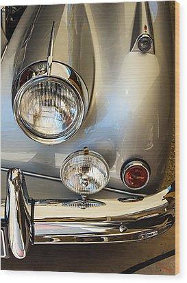 Silver Jaguar Xk 140 Wood Print by SM Shahrokni