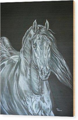 Silver Wood Print