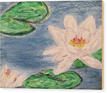 Silver Lillies Wood Print