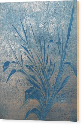 Wood Print featuring the painting Silver by Nico Bielow