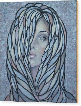 Silver Nymph 021109 Wood Print by Selena Boron