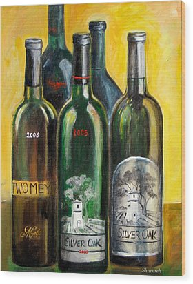 Wood Print featuring the painting Silver Oak by Sheri  Chakamian