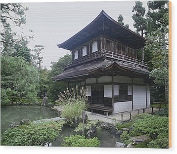 Silver Pavilion - Kyoto Japan Wood Print by Daniel Hagerman