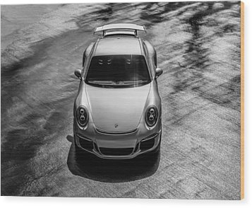 Silver Porsche 911 Gt3 Wood Print by Douglas Pittman