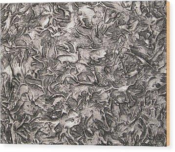 Silver Streak Wood Print
