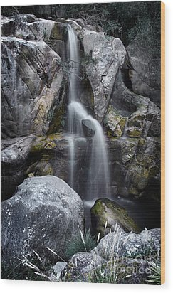 Silver Waterfall Wood Print by Carlos Caetano