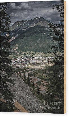 Silverton View From Above Wood Print by Jim McCain