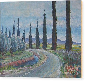 Silvery Afternoon Wood Print by Vanessa Hadady BFA MA
