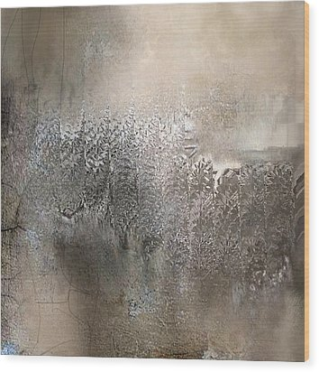 Silvery Night Wood Print
