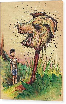Simon And The Beast Wood Print