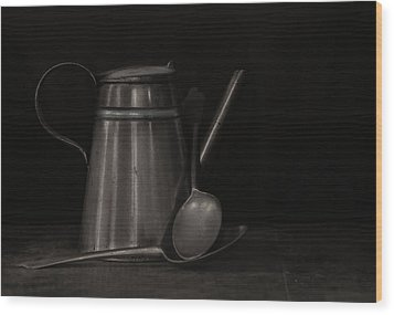 Simple Essentials Wood Print by Robin-Lee Vieira